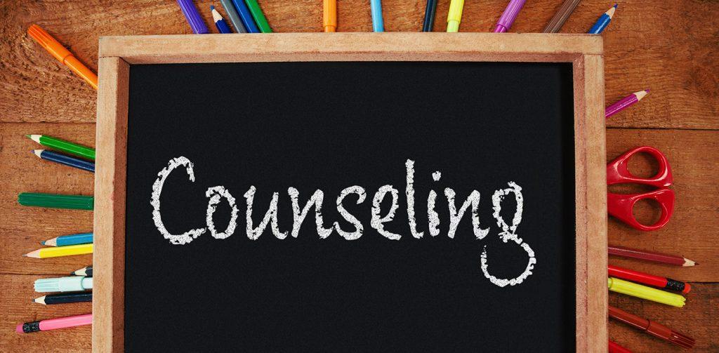 Word Counseling in chalk on blackboard