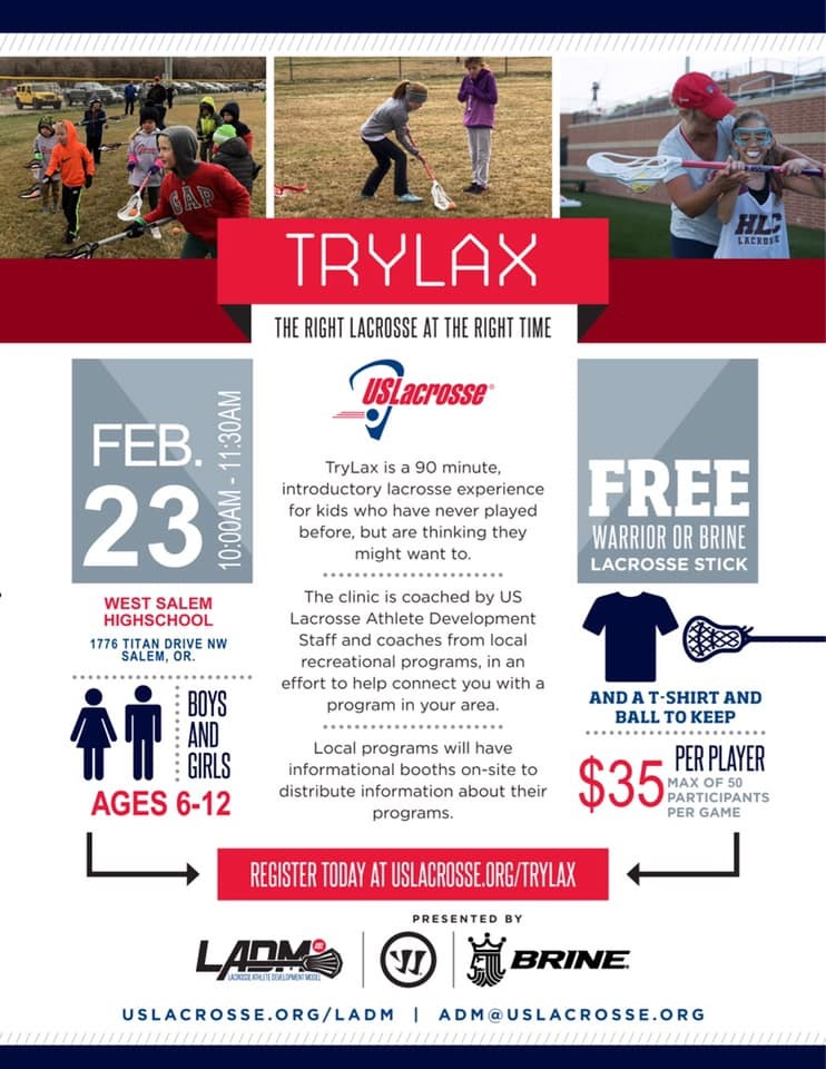 Try Lacrosse Day on February 23rd