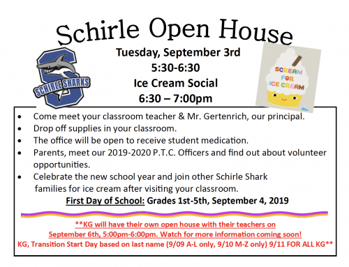 Schirle Open House & Ice Cream Social